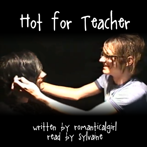 cover of hot for teacher, showing Mikey fixing Gerard's hair.