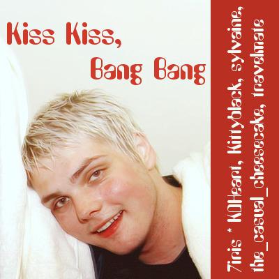cover of kiss kiss bang bang, showing Gerard looking flushed and slightly stoned.