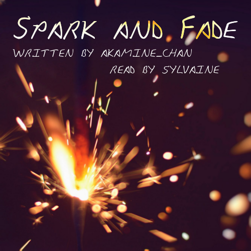 cover of spark and fade, showing a sparkler at night.