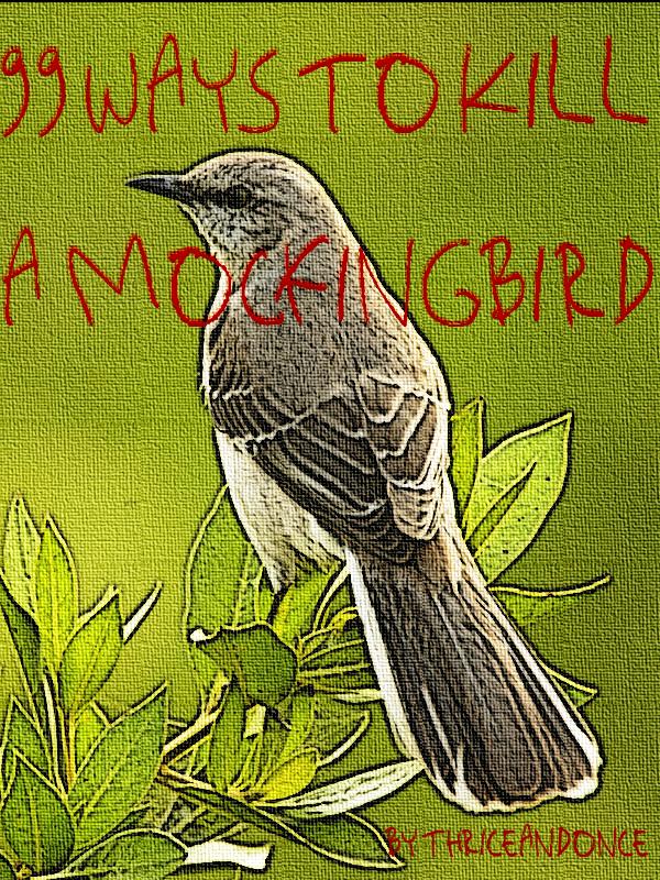 A faux-painted mockingbird.
