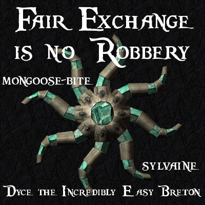 cover of fair exchange is no robbery, showing Azura's star, repaired and whole.