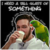 cover of i need a tall glass of something